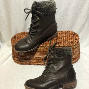ALDO Brown LaceUp Booties
